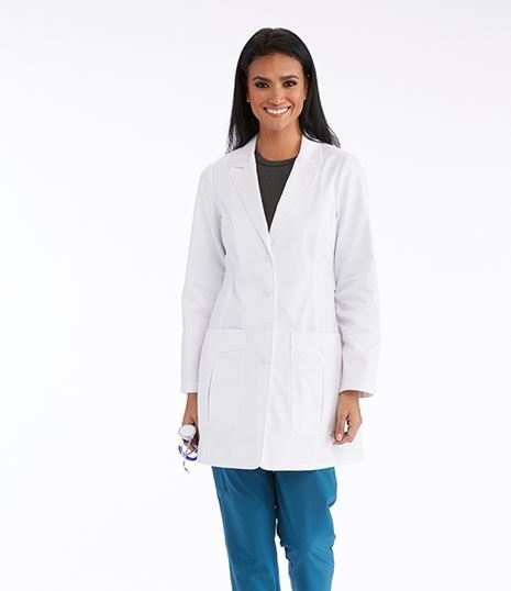 Barco One Women's 34 inch Back Belted Lab Coat LBC905