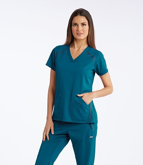 Grey's Anatomy Impact Women's Elevate V-Neck Scrub Top-7188