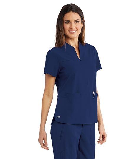 Grey's Anatomy Signature Women's Split Neck Scrub Top-GNT023