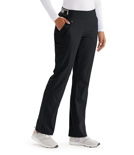 Grey's Anatomy Active Spandex Stretch Women's Logo Waist Scrub Pants-GVSP515