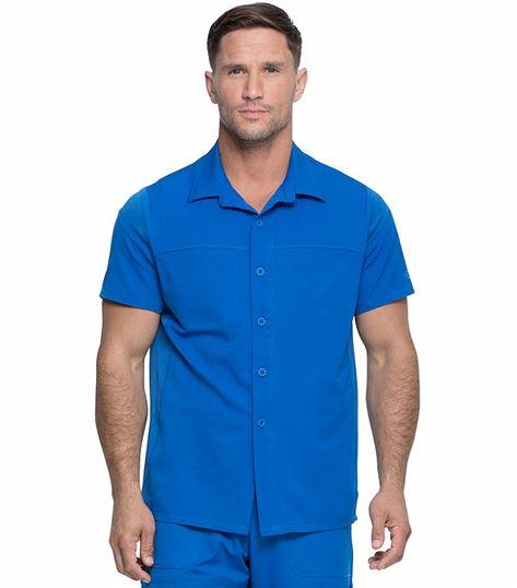 Dickies Dynamix Men's Button Front Collar Scrub Shirt-DK820