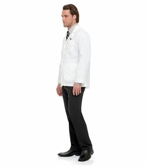 """Landau Men's 30"""" White Lab Jacket-3224"""