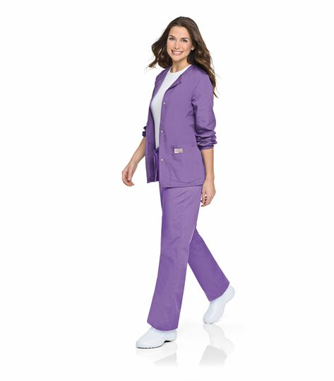 ScrubZone by Landau Women's Snap Front Warm-Up Scrub Jacket-75221