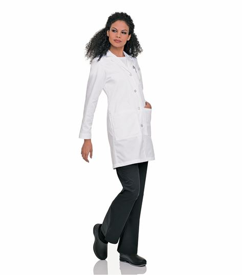 "Landau Women's 38"" Long White Lab Coat-3153"