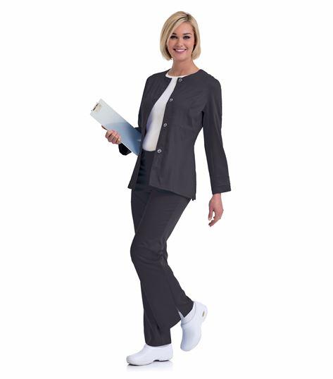 Urbane Women's Snap Front Warm-Up Scrub Jacket-9870