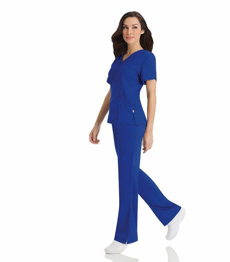 Urbane Women's Double V-Neck Solid Scrub Top-9576