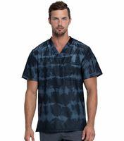 Dickies Dynamix Men's Printed Tie Dye V-Neck Scrub Top-DK613