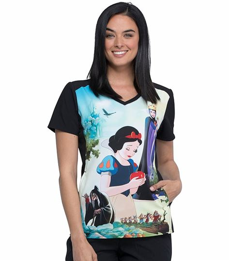 Cherokee Tooniforms Women's Cartoon V-Neck  Scrub Top-TF637