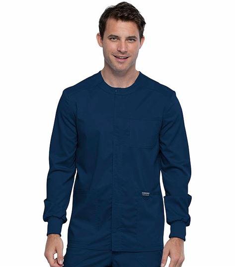 Cherokee Workwear Revolution Men's Snap Front  Scrub Jacket-WW380
