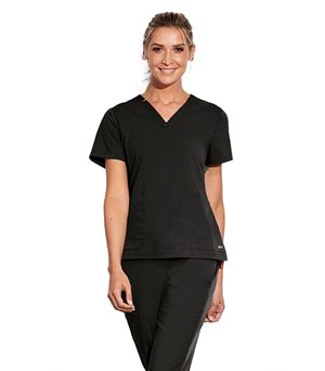 Motion by Barco 3 Pocket  Notched Lapover V-Neck Scrub Top MOT002