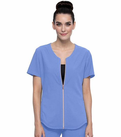 Cherokee Statement Limited Edition Zip Front V-Neck Scrub Top-CK875