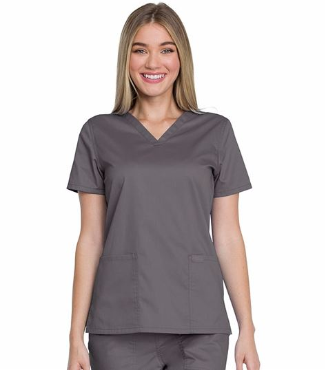 Genuine Dickies Women's V-Neck Scrub Top-GD600