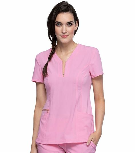 Cherokee Statement Limited Edition Y-Neck Scrub Top-CK876
