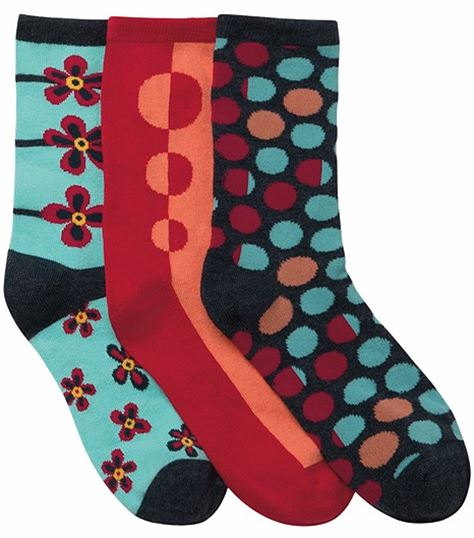 Cherokee 1-3pr Pack Of Crew Socks DOTMYFLOWER