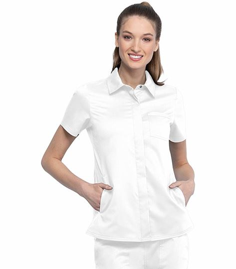 Cherokee Workwear Revolution Women's Collared Scrub Shirt-WW669