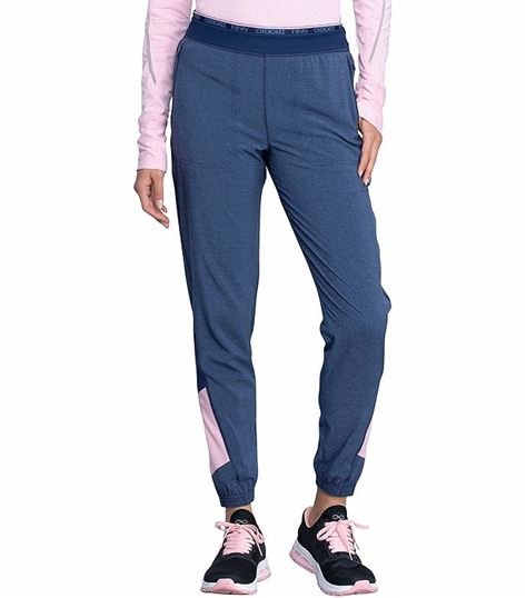 Cherokee  Infinity Women's Color Block Jogger Scrub Pants-CK225A