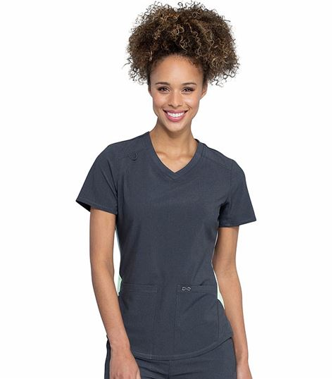 Cherokee Infinity Women's Fashion V-Neck Scrub Top-CK925A