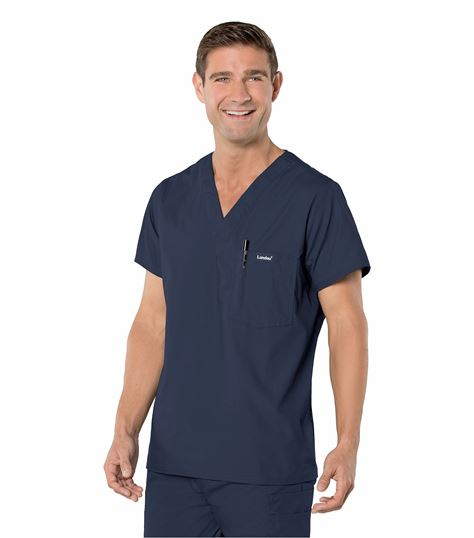 Landau Men's Vented Scrub Top-7594