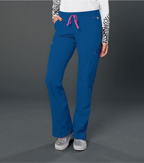 Smitten Women's Slim Fit Drawstring Cargo Scrub Pants-S201002