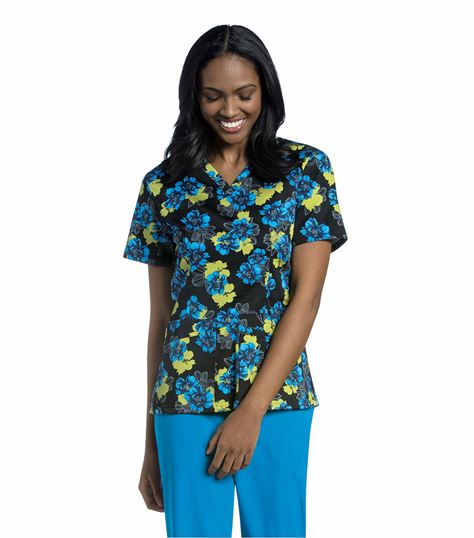 Urbane WOMEN'S V-NECK WITH TOP LOAD POCKETS 9051