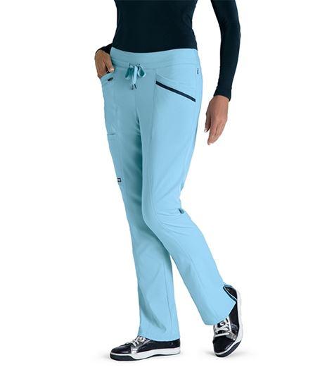 Grey's Anatomy Impact Women's Drawcord Knit Waist Scrub Pant-GIP529