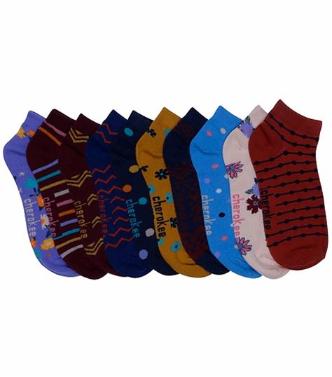 Cherokee 6-5pr Packs Of No Show Socks MISMATCH