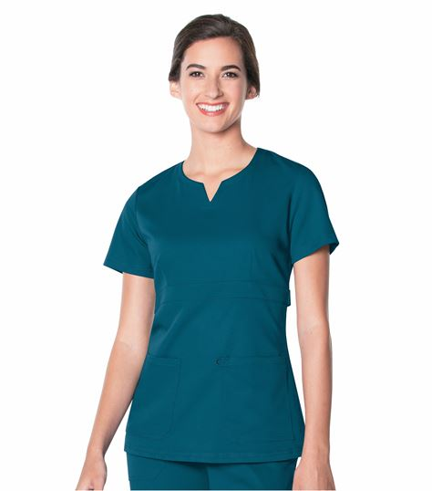 Urbane Ultimate Leah Notched Neck Empire Waist Scrub Top-9062