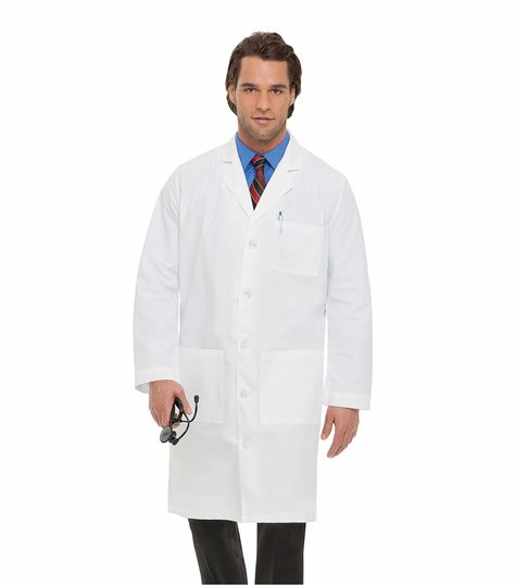 "Landau Men's 41"" Long White Lab Coat-3145"