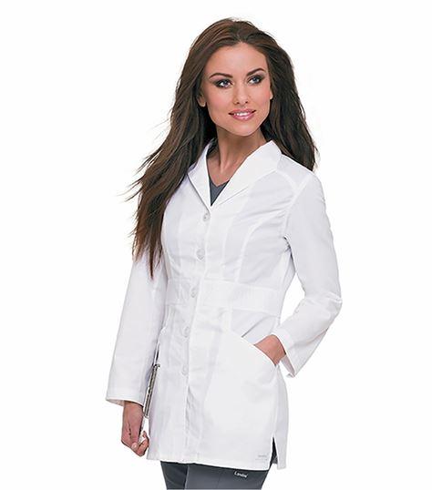 """Landau Smart Stretch Signature Women's 31"""" Lab Coat-3028"""