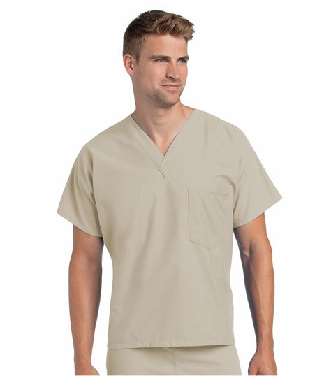 Landau Unisex Reversible V-Neck Scrub Top-7502