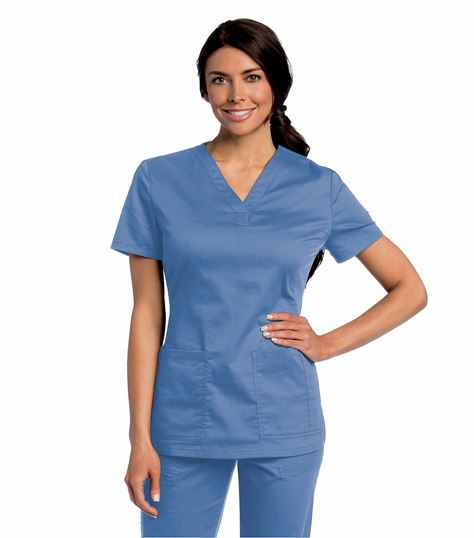 All Day by Landau WOMENS ALL DAY Y NECK SCRUB TUNIC 4143