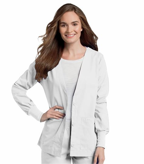 Landau Women's Cardigan Style Warm-Up Scrub Jacket-7535