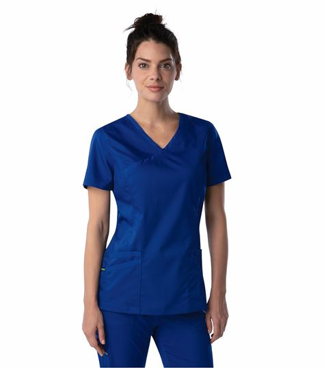 Landau Proflex Women's Mock Wrap Scrub Top-4161
