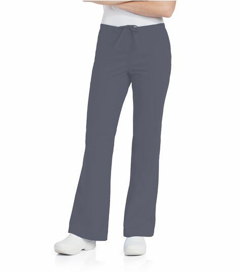 Landau Women's Elastic Back Drawstring Flare Leg Scrub Pants-8335