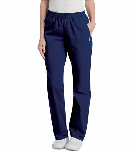 Landau Women's Elastic Waist Straight Leg Scrub Pants-8327