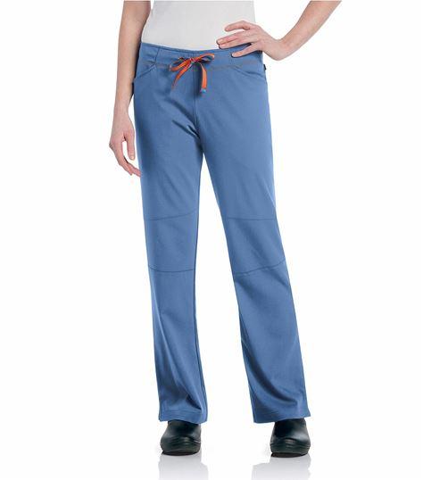 Urbane Women's Slim Fit Straight Leg Elastic Waist Scrub Pants-9318