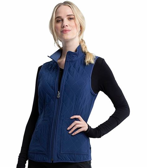 Cherokee Infinity Women's Reversible Quilted Scrub Vest-CK530A