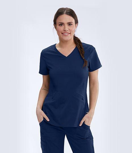 Grey's Anatomy Women's 3 Pocket V-Neck Scrub Top-GRST013