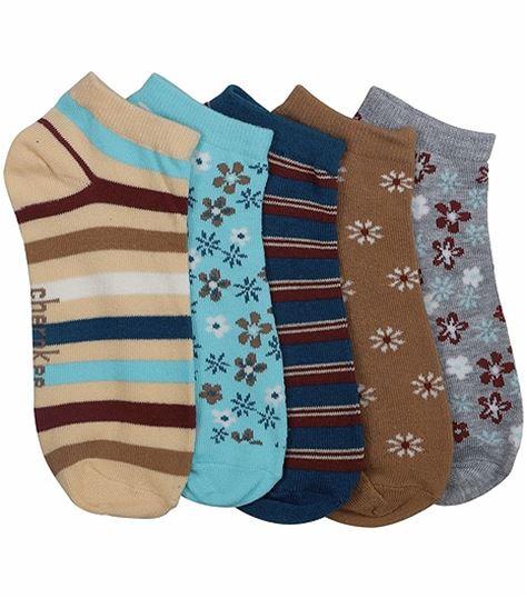 Cherokee 6-5pr Packs Of No Show Socks BROWNSNBLUES