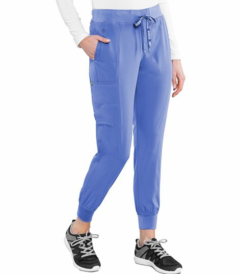 Med Couture Peaches Women's Seamed Jogger Scrub Pants-8721