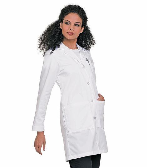 """Landau Women's 38"""" Long White Lab Coat-3153"""