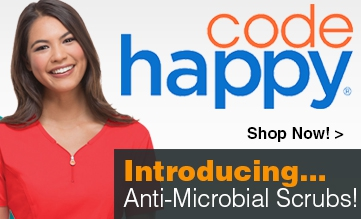Introducing Code Happy, Anti-Microbial Scrubs!