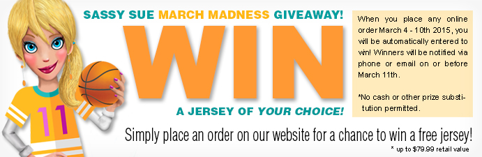 Sassy Sue March Madness Giveaway!